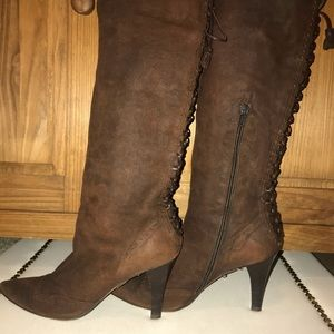Dk. Brown Vintage Style Kenneth Cole Tall Boots